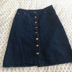 Asos button down denim skirt 4